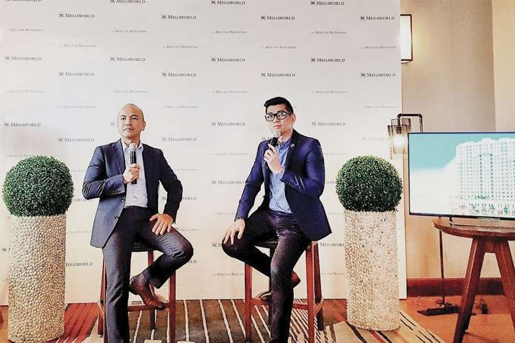 New Megaworld Project. Megaworld Cebu Properties president Noli Hernandez (left) and public relations specialist Harold Geronimo announce the newest addition to Mactan Newtown—a new residential tower called La Victoria Global Residences named in honor of Galleon Victoria.