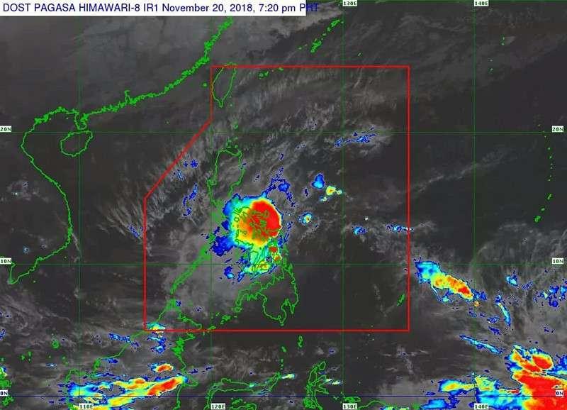 Satellite image of Tropical Depression Samuel (Pagasa)