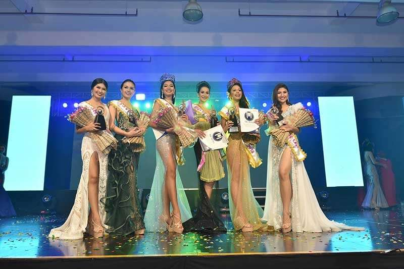 PAMPANGA. The newly-crowned Mutya ning Angeles Royalties (L-R) Sean Myra Patricia Bondoc of Capaya as third runner-up, Ma. April Miranda of Mining as first runner-up, Myrna T. Esguerra of Anunas as MNA Tourism, Mary Anne Felker of Pulungbulu as Mutya ning Angeles 2018, Valerie T. Byczko of Cutcut as MNA Youth Ambassador and Lyra Kamille P. Escalante of San Jose as second runner-up. (Contributed Photo)