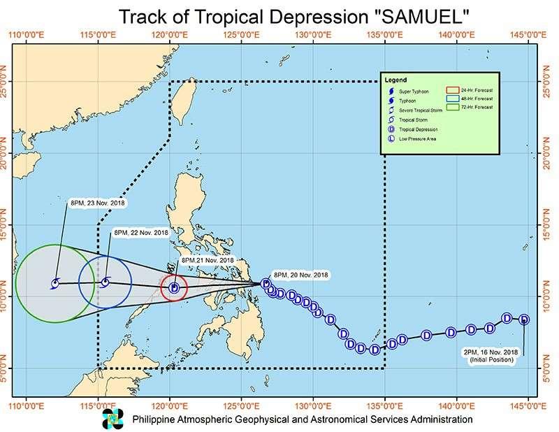 Satellite track image of Tropical Depression Samuel (Pagasa)