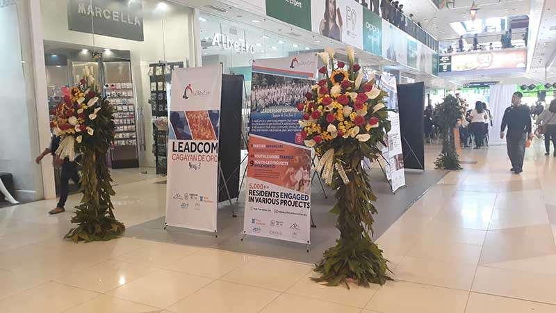CAGAYAN DE ORO. The exhibit of the projects implemented by the nine participating barangays in Cagayan de Oro for the Leadership Communities (LeadCom) program in Centrio Ayala Mall. (Jo Ann Sablad)