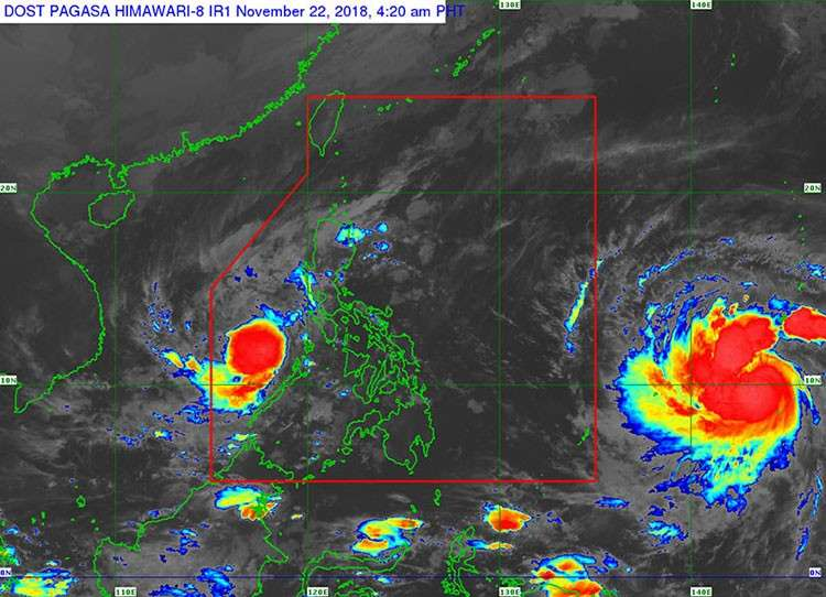 Satellite image of Tropical Depression Samuel (Source: Pagasa)