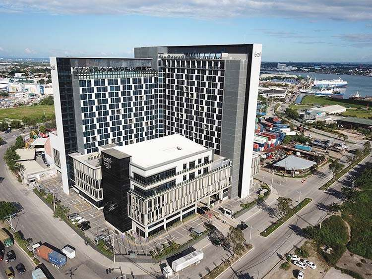 The world-class, two-tower bai Hotel Cebu not only reshapes the skyline of Mandaue City, but also remakes the area from a manufacturing center to a leisure and event destination.(Contributed foto)
