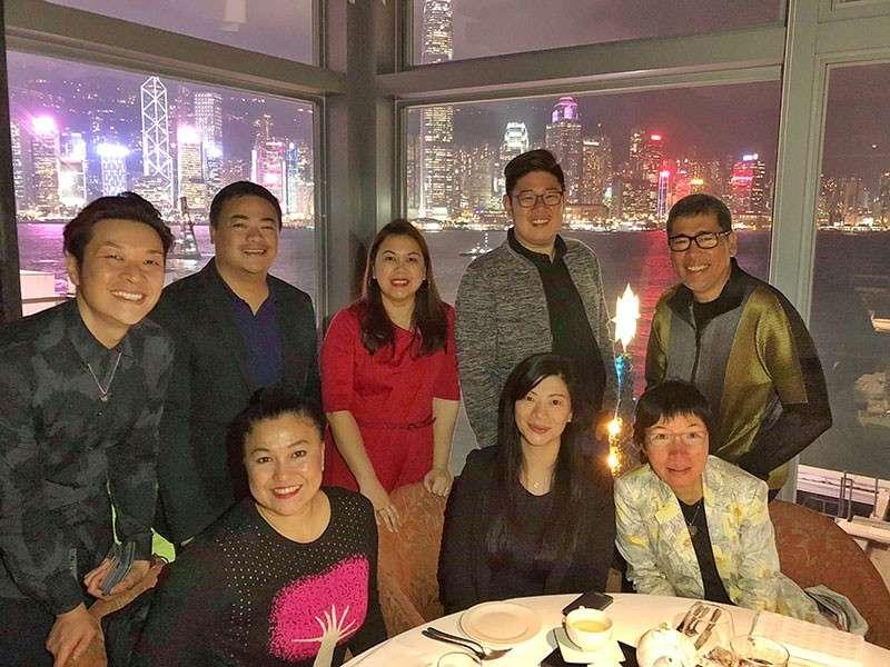 HONG KONG. Davao media with Marco Polo Hong Kong Hotel, Cathay Pacific and Harbour City executives