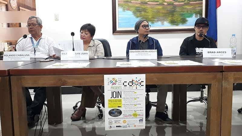 From left: Rolando Cabaluna, provincial head of Misamis Oriental DICT Mindanao Cluster; Eileen San Juan, City Investments and Promotions officer; Jonathan Arvin Adolfo, executive director of CDO ICT Business Council; and Brad Arces, core member of OBRA. (Jo Ann Sablad)
