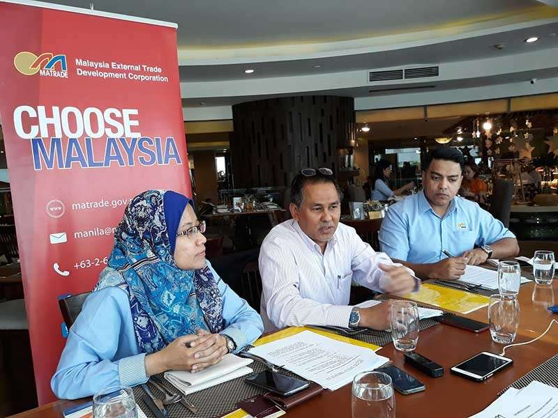 EXPLORING TRADE. Ahmad Nasaruddin Mohd Noor (center), Malaysia External Trade Development Corporation (Matrade) Deputy Director, said the Philippines' large market is attractive to Malaysian investors. (RJ Lumawag)