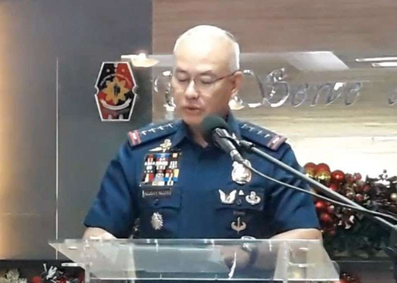MANILA. Philippine National Police (PNP) Director General Oscar Albayalde reads a statement during his press conference on November 26, 2018. (PNP Facebook)
