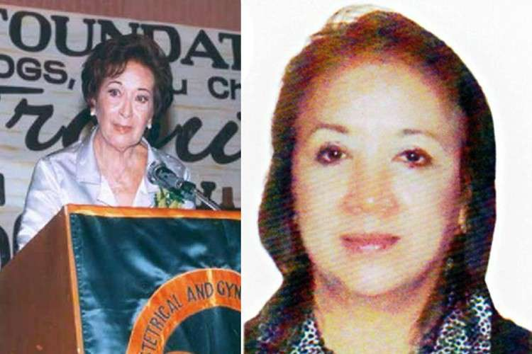 Founder and charter president of Zonta Club of Cebu 1 Dr. Suga Yuvienco and the current (returning) president, daughter Minnie Yuvienco.