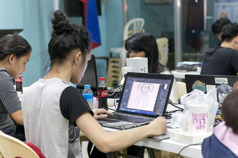 The participants for the Creative Digital Output Challenge, which was held in the DICT Training Hall over the weekend. (Photo from Oro Digi Arts Fest Facebook page)