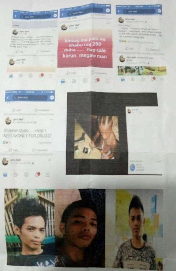 CEBU. Screenshots of the Facebook account of