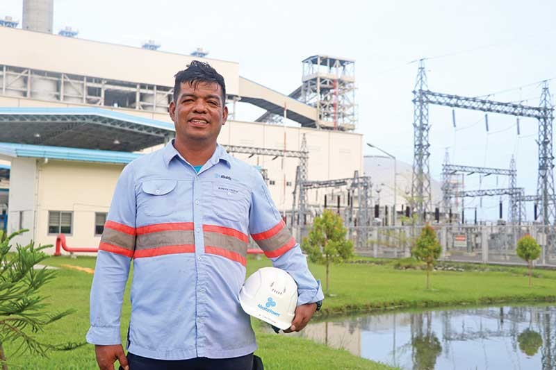GROW FROM WITHIN. Anthony Ortega has been with AboitizPower subsidiary Therma South, Inc. (TSI) for seven years. He was a payong-payong driver before joining TSI as company driver and eventually becoming an auxiliary operator. (Contributed photo)