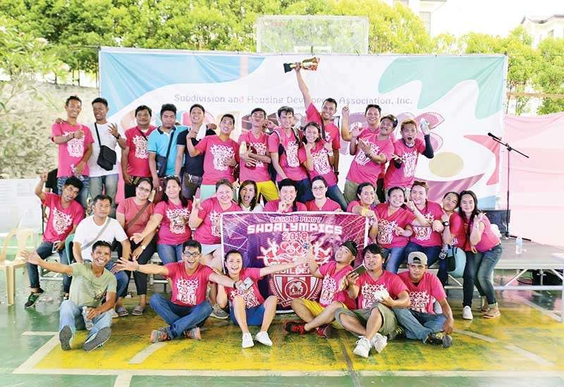 DAVAO. Davao Joyful Homes is this year's SHDAlympics champion. (Contributed Photo)