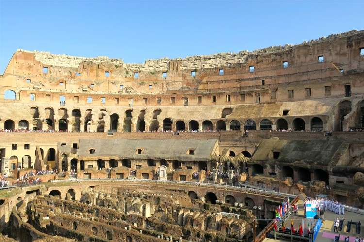 During The Roman Times, women were considered second-class citizens. They sat at the cheapest seats, located at the top of the Colosseum. (Photo /Crystal Neri)