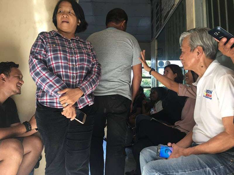 Satur Ocampo and members of the Association of Concerned Teachers (ACT) were being held at the Talaingod Municipal Police (Photo courtesy of Jose Hernani)
