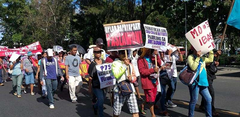 BACOLOD. Militant and progressive groups in Negros Occidental hold a protest rally in Bacolod City on Bonifacio Day Friday, November 30. (Erwin Nicavera)