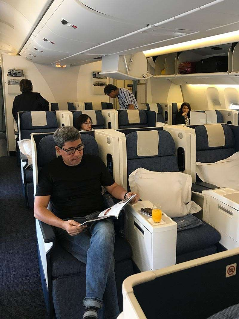 DAVAO: Came home to the PH on Philippine Airline's Business Class