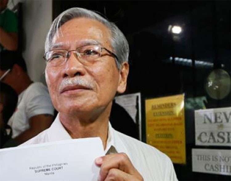 MANILA. Former Bayan Muna representative Satur Ocampo. (File photo)
