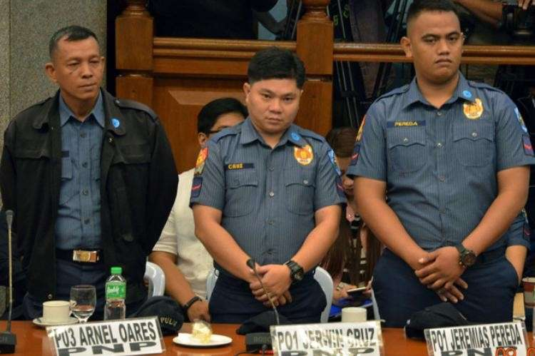 MANILA. Caloocan cops Police Officer 3 Arnel Oares, PO1 Jeremias Pereda, and PO1 Jerwin Cruz were found guilty of murdering Kian delos Santos. (SunStar File)