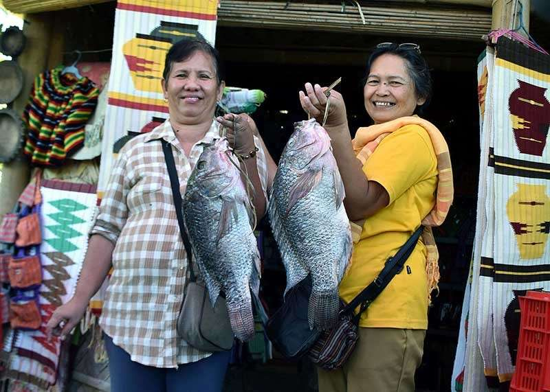BAGUIO. Fresh tilapia from Binga Dam in Itogon, Benguet weighing more than five kilograms each are among the attractions on display at the Agri-Tourism Trade Fair at the Benguet Sports Complex as part of the 118th Benguet Founding Anniversary celebration and the Adivay Festival 2018. (Redjie Melvic Cawis)