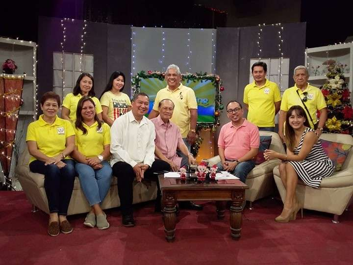 """NOHSAAI officers and board of directors led by its president, retired judge Moises Nifras (seated, center), and """"One NOHS!"""" chair Arnel Lapore (seated, third from left) with ABS-CBN's """"The Morning Show"""" hosts, Marty Go and Danni Dingcong, during their media guesting. <b>(Contributed photo)</b>"""