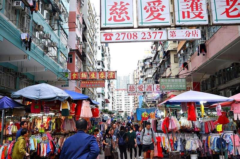 Busy Sham Shui Po open air market district (Photo by Jojie Alcantara)