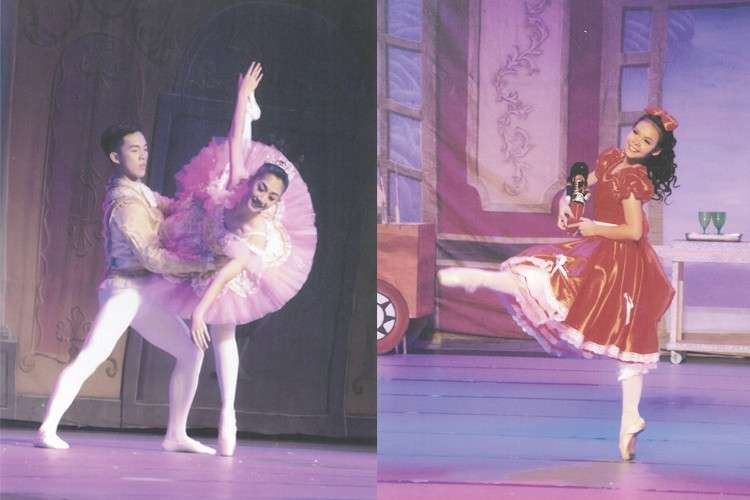 Dancers Cheron Co as Sugar Plum Fairy, Nino Garcia as Cavalier and Kissy Acar as Clara.