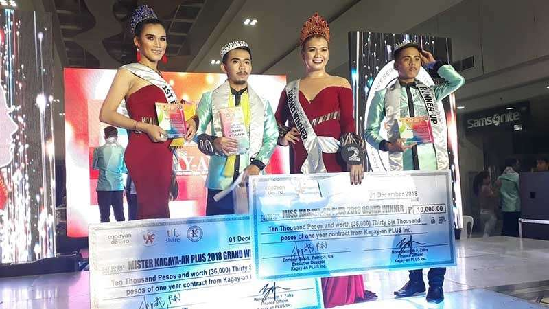 CAGAYAN DE ORO. The winners of this year's Mister and Miss Kagay-an PLUS during the coronation night last Saturday, December 1. (Jo Ann Sablad)