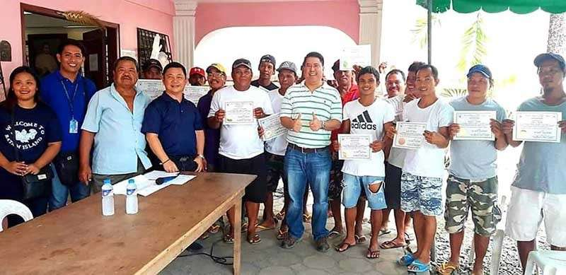 PAMPANGA. Fourth District Congressman Juan Pablo 'Rimpy' P. Bondoc and Board Member Pol Balingit with Bfar officials led the recent distribution of fish nets to fisherfolks of Masantol and Macabebe at the district office of the solon. (Chris Navarro)