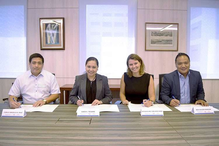 MANILA. L-R: Carlo Angelo Diaz (General Manager, Bankers Assurance Corporation), Eden Tesoro (President, Bankers Assurance Corporation),  Jacqueline Van Den Ende (CEO, TrueMoney Philippines), and Xavier Marzan (President, TrueMoney Philippines). (Contributed photo)