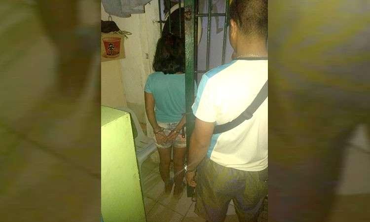 CEBU. Child abuse and human trafficking suspect Sole Borinaga was arrested in Cordova, Cebu on Thursday, December 6, 2018. (Photo courtesy of Cordova Police Chief Efren Diaz Jr.)