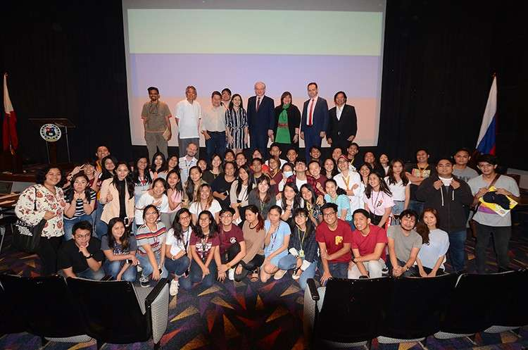 Students of the University of San Carlos during the Russian Film Festival last Dec. 5 at the School of Architecture, Fine Arts & Design Theatre.