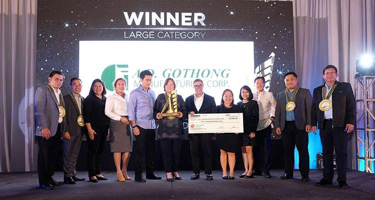 Award. A.D. Gothong Manufacturing Corp. emerges as the Gawad Linaw Winner for the large company category. The award recognizes the innovative practices on labor and management relations adopted by companies in Mandaue City. (Contributed Foto / Clifford Pedraza And Jericho Saavedra)