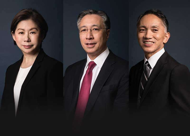 Teresita Sy-Coson, chairperson, Nestor Tan, president and chief executive officer of BDO Unibank, Inc., and Eduardo Francisco, president of BDO Capital & Investment Corporation and chairman of BDO Nomura, have been named Nation Builders by BizNewsAsia, the largest business and weekly news magazine in the Philippines. (Contributed photo)