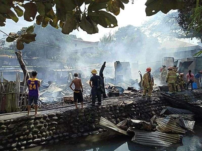 Fire Razes 7 Houses In Bacolod 3 Injured Sunstar