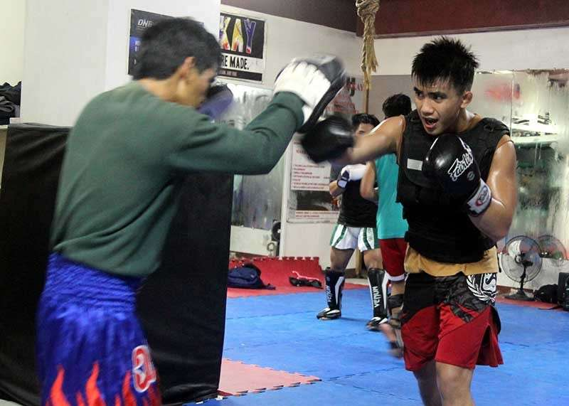 BAGUIO. Even with the holiday season around the corner, One Championship strawweight world title holder Joshua Pacio starts his build up at the Team Lakay Gym as he defends his belt against his former tormentor, Hayato Suzuki. (Roderick Osis)