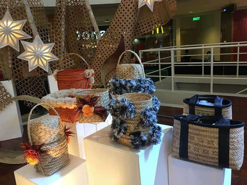 DAVAO. Bags made from woven pandan leaves by Mindanawon entrepreneurs are available at the Mindanao Trade Expo (MTE) Christmas Bazaar on December 10 to December 16, 2018 at Abreeza Mall, Davao City. (Gilford A. Doquila)
