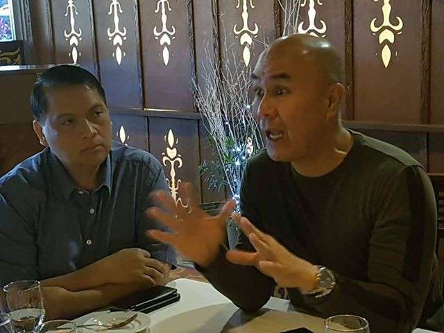 PAMPANGA. Mabalacat City Mayor Cris Garbo says that despite the negative comments coming from his political rivals he is simply doing his job as the local chief executive of the city, during yesterday's media briefing at Maranao Grill, Angeles City. With him is City Legal Officer Atty. Raul Ignacio. (Chris Navarro)