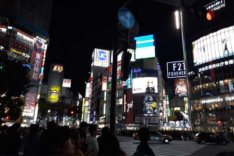 Shibuya was alive and glowing even late at night. (Photo / Karl Aries Emerson F. Cabilao)
