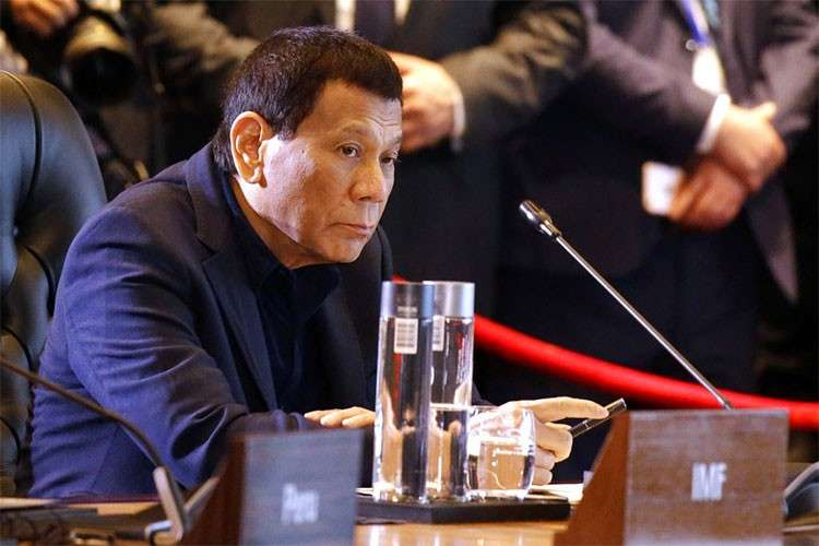 PAPUA NEW GUINEA. In this file photo, President Rodrigo Duterte attends an International Monetary Fund (IMF) informal dialogue session at Apec Haus in Port Moresby, Papua New Guinea, on November 18, 2018. (AP)