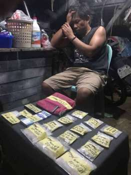 BOHOL. A high-value drug personality was caught during a buy bust in Tagbilaran. (Contributed photo/ Bohol Provincial Police Office)