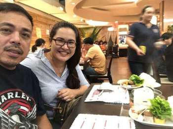 """CAGAYAN DE ORO. Our last date night """"groupfie"""" before his accident. (Hannah Wabe)"""