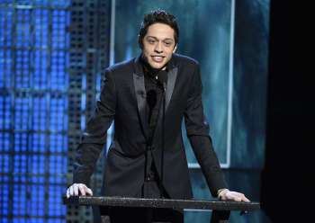 In this March 14, 2015, file photo, Pete Davidson speaks at a Comedy Central Roast at Sony Pictures Studios in Culver City, California, New York police were concerned about Davidson after he wrote