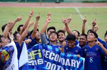 CHAMPIONS AGAIN. SHS-Ateneo de Cebu won the Boys 18 title of the Aboitiz Cup after beating Don Bosco Boys Home via shootout. (SunStar file)