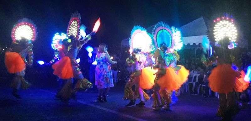 NEGROS. The mayor dances with the Bailes de Luces Festival dancers. (Erwin P. Nicavera)