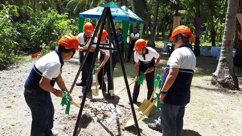 POWER CONNECTIONS. Officials of the National Grid Corporation of the Philippines break ground on the Mindanao-Visayas Interconnection Project. Aside from connecting the Mindanao and Visayas grids, the NGCP is also set to embark a project connecting the provinces of  Cebu and Bohol next year. (Photo from the NGCP website)