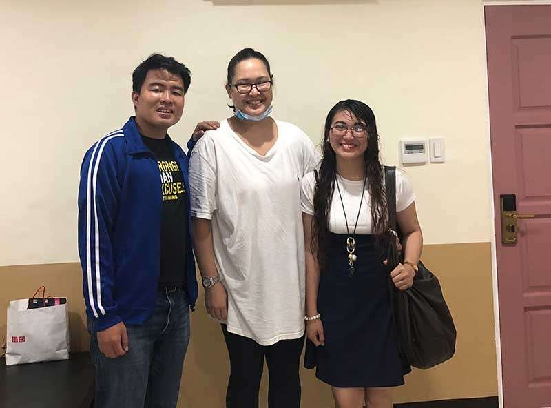 CAGAYAN DE ORO. With Jame and Riz, my friends from SunStar, who came to bring me hope and the warmth akin to the sun and stars above. (Hannah Wabe)