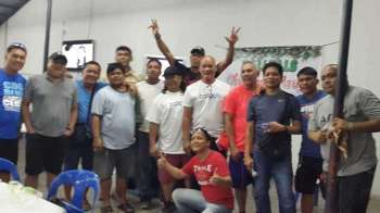 CAGAYAN DE ORO. The Palaro veterans of the long-surviving Ballpals club on Monday night's Christmas party and awards rites. (Contributed Photo)