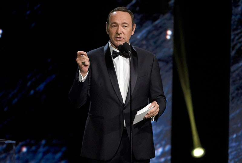 CALIFORNIA. In this October 27, 2017, file photo, Kevin Spacey presents an award in Beverly Hills, Calif. A Massachusetts prosecutor says Spacey is scheduled to be arraigned Jan. 7, 2019, on a charge of indecent assault and battery for allegedly sexually assaulting the teenage son of a Boston television anchor in a Nantucket restaurant. (AP)