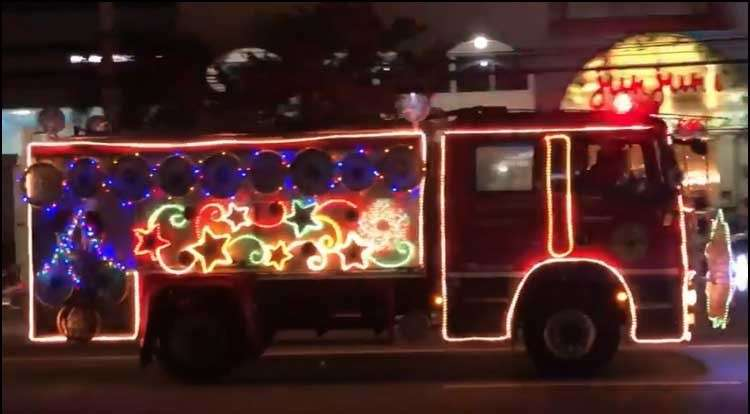 PAMPANGA. A festive fire truck paraded along the streets of City of San Fernando during the 1st BFP-Central Luzon Fire Truck Float competition. (Contributed Photo)