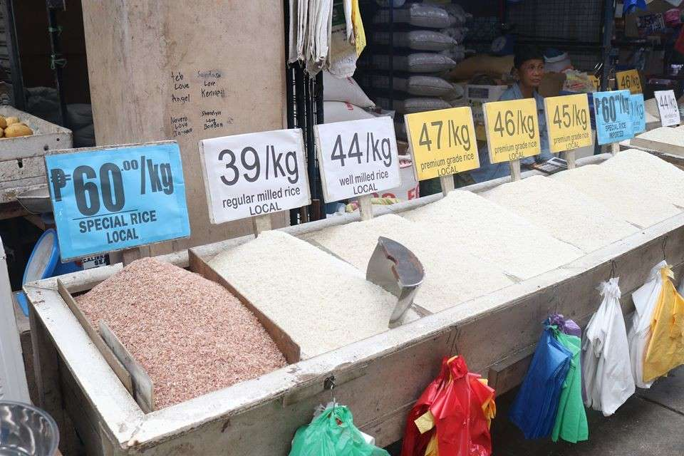 A rice stall at the public market of Bago City selling the commodity based on the suggested retail prices set by the National Food Authority Council starting November this year. (Contributed photo)
